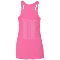2018 Rob Lightner Summer Tour Pink Logo NL6733 Next Level Ladies' Triblend Racerback Tank