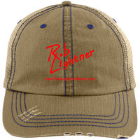 Rob Lightner Red Logo 6990 Distressed Unstructured Trucker Cap