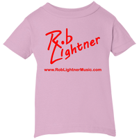 2019 Rob Lightner Summer Tour Pink Logo 3401 Rabbit Skins Infant 5.5 oz Short Sleeve T-Shirt