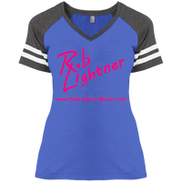 2019 Rob Lightner Summer Tour Pink Logo DM476 District Ladies' Game V-Neck T-Shirt