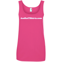 AssHatTShirts.com Ladies' White Logo Tank - 882L Anvil Ladies' 100% Ringspun Cotton Tank Top