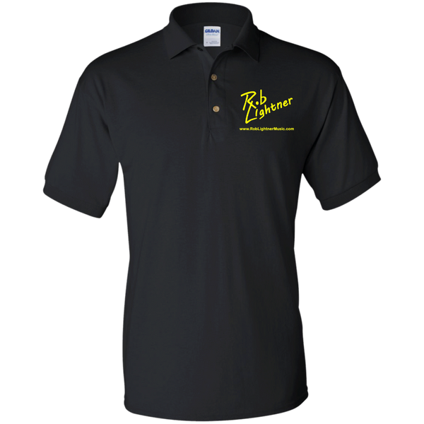 Rob Lightner Yellow Logo G880 Gildan Jersey Polo Shirt