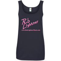 2018 Rob Lightner Summer Tour Pink Logo 882L Anvil Ladies' 100% Ringspun Cotton Tank Top