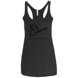 2018 Rob Lightner Summer Tour Black Logo NL6733 Next Level Ladies' Triblend Racerback Tank