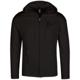 Rob Lightner Black Logo DT1100 District Lightweight Full Zip Hoodie