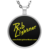 Rob Lightner Yellow Logo Pendant Necklace