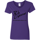 2019 Rob Lightner Summer Tour Black Logo G500VL Gildan Ladies' 5.3 oz. V-Neck T-Shirt