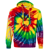 Rob Lightner Yellow Logo CD877 Tie-Dyed Pullover Hoodie