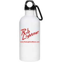 Rob Lightner Red Logo 20 oz. Stainless Steel Water Bottle