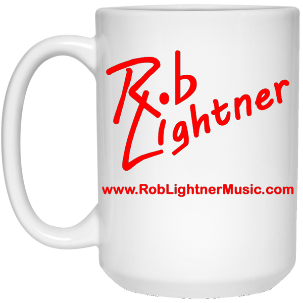 Rob Lightner Red Logo 15 oz. White Ceramic Mug