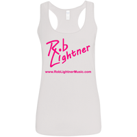 2019 Rob Lightner Summer Tour Pink Logo G645RL Gildan Ladies' Softstyle Racerback Tank