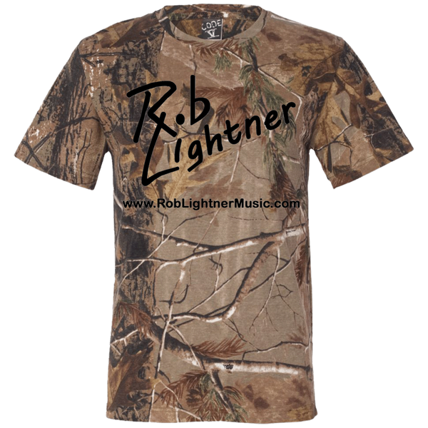 2018 Rob Lightner Summer Tour Black Logo 3980 Code V Short Sleeve Camouflage T-Shirt