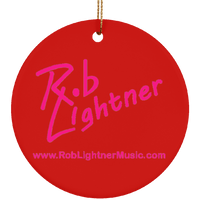 Rob Lightner Pink Logo Ceramic Holiday Ornament