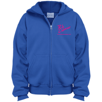 Rob Lightner Pink Logo PC90YZH Port & Co. Youth Full Zip Hoodie