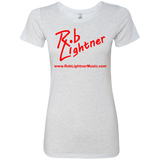 2018 Rob Lightner Summer Tour Red Logo NL6710 Next Level Ladies' Triblend T-Shirt