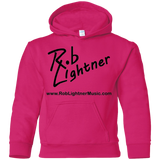 Rob Lightner Black Logo Icon - G185B Gildan Youth Pullover Hoodie
