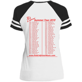 2019 Rob Lightner Summer Tour Red Logo DM476 District Ladies' Game V-Neck T-Shirt