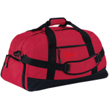 Rob Lightner Red Logo BG980 Port & Co. Basic Large-Sized Duffel Bag