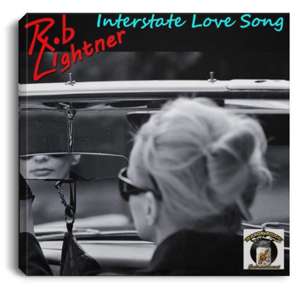 Rob Lightner Interstate Love Song Album Art on Square Canvas Print