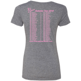 2018 Rob Lightner Summer Tour Pink Logo NL6710 Next Level Ladies' Triblend T-Shirt