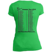 2018 Rob Lightner Summer Tour Black Logo DT4501 District Junior's Vintage Wash V-Neck T-Shirt
