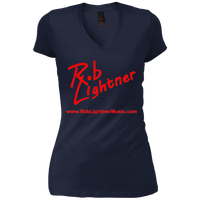 2018 Rob Lightner Summer Tour Red Logo DT4501 District Junior's Vintage Wash V-Neck T-Shirt