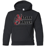 Nathan Shaffer Barbed Wire Logo - G185B Gildan Youth Pullover Hoodie