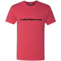 AssHatTShirts.com Black Logo - NL6010 Next Level Men's Triblend T-Shirt