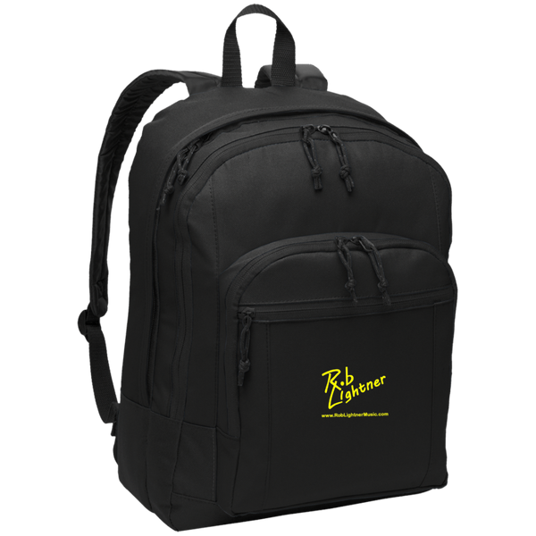 Rob Lightner Yellow Logo BG204 Port Authority Basic Backpack