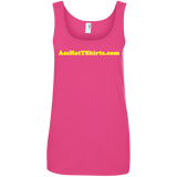 AssHatTShirts.com Ladies' Yellow Logo Tank - 882L Anvil Ladies' 100% Ringspun Cotton Tank Top