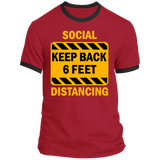 Social Distancing - PC54R Ringer Tee