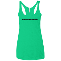 AssHatTShirts.com Black Logo NL6733 Next Level Ladies' Triblend Racerback Tank