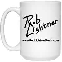 Rob Lightner Black Logo 15 oz. White Ceramic Mug