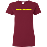 AssHatTShirts.com Ladies' Yellow Logo Tee - G500L Gildan Ladies' 5.3 oz. T-Shirt