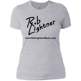 2019 Rob Lightner Summer Tour Black Logo NL3900 Next Level Ladies' Boyfriend T-Shirt