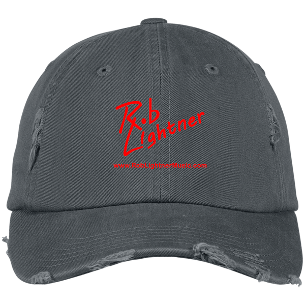 Rob Lightner Red Logo DT600 District Distressed Dad Cap