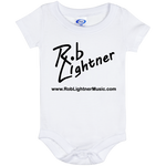 Rob Lightner Black Logo Baby Onesie 6 Month