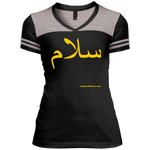 Salam - سلام - DT264 District Junior's Varsity V-Neck T-Shirt