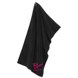 Rob Lightner Pink Logo TW530 Port Authority Microfiber Golf Towel