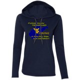 F*CKING FOLLOW the GUIDELINES WV Strong - 887L Ladies' LS T-Shirt Hoodie