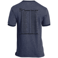 2019 Rob Lightner Summer Tour Black Logo PC54R Port & Co. Ringer Tee