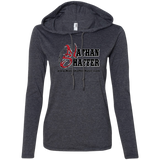 Nathan Shaffer Barbed Wire Logo - 887L Anvil Ladies' LS T-Shirt Hoodie
