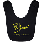 Rob Lightner Yellow Logo Baby Bib