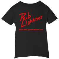 2018 Rob Lightner Summer Tour Red Logo 3401 Rabbit Skins Infant 5.5 oz Short Sleeve T-Shirt