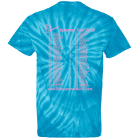 2018 Rob Lightner Summer Tour Pink Logo CD100 100% Cotton Tie Dye T-Shirt