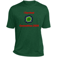 I Survived CoronaVirus 2020 - ST360 Heather Dri-Fit Moisture-Wicking T-Shirt