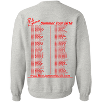 2018 Rob Lightner Summer Tour Red Logo G180 Gildan Crewneck Pullover Sweatshirt  8 oz.