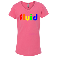 Fluid - NL3740 Next Level Girls' Princess V-Neck T-Shirt