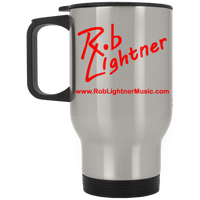 Rob Lightner Red Logo Stainless Steel Travel Mug