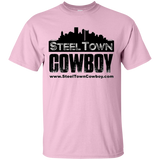 SteelTown Cowboy Black Logo - G200 Gildan Ultra Cotton T-Shirt